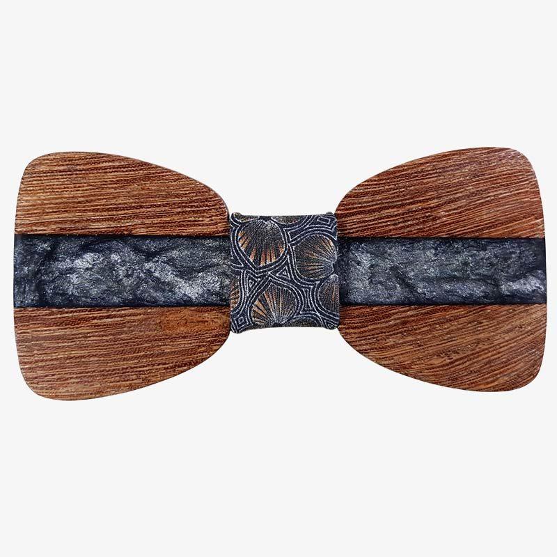 παπιγιόν ξύλινο ασημί