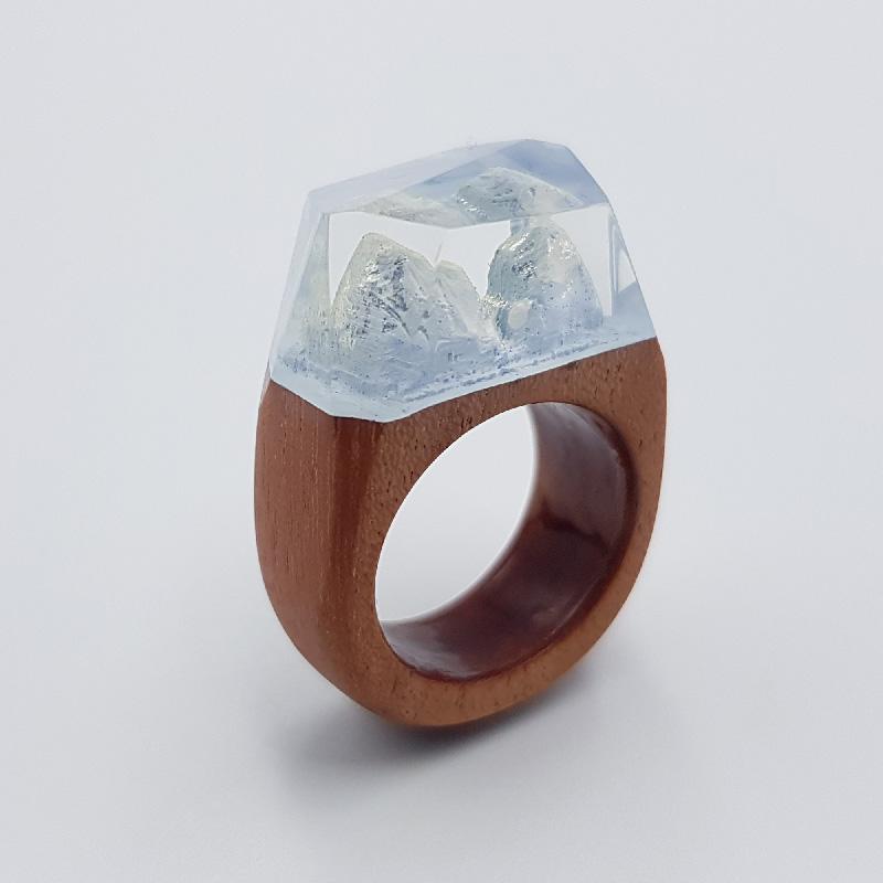 δαχτυλίδι ρητίνης γαλάζιο