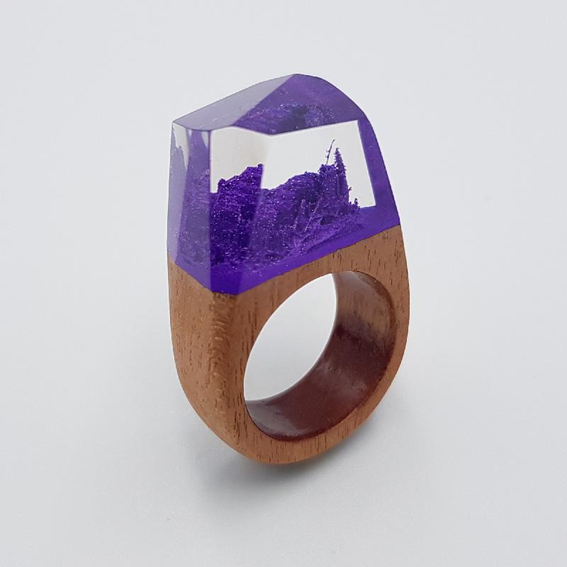 δαχτυλίδι ρητίνης μοβ