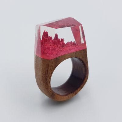 δαχτυλίδι ρητίνης κόκκινο