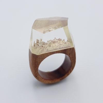 δαχτυλίδι ρητίνης άσπρο