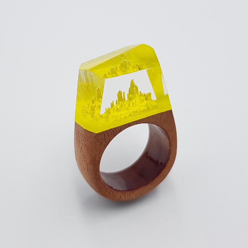 δαχτυλίδι ρητίνης κίτρινο