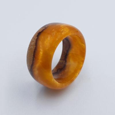 δαχτυλίδι ρητίνης πορτοκαλί