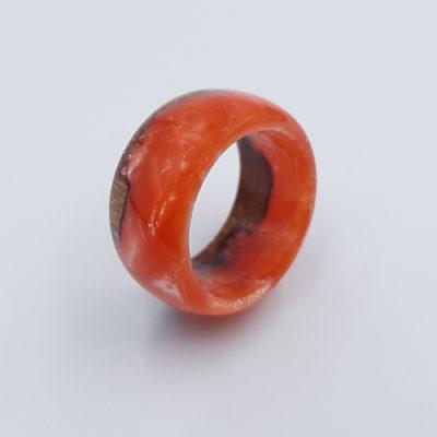 δαχτυλίδι ρητίνης ροζ