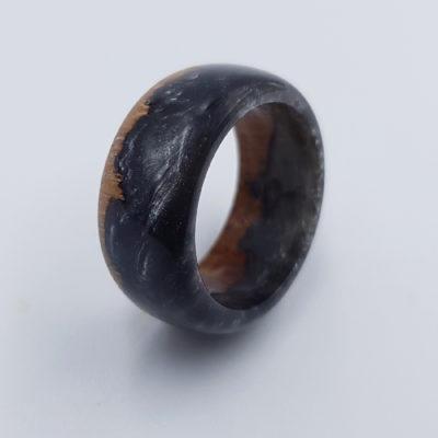 δαχτυλίδι ρητίνης μαύρο