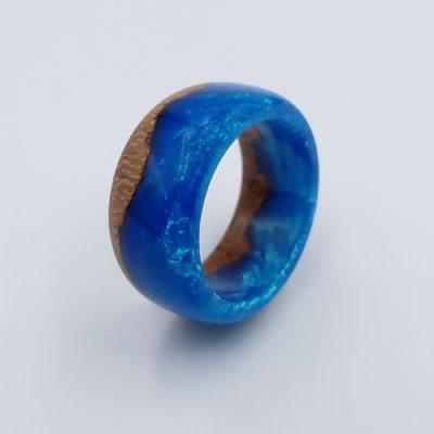 δαχτυλίδι ρητίνης μπλε
