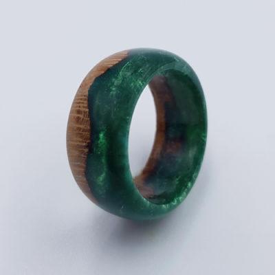 δαχτυλίδι ρητίνης πράσινο